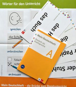 Unser DaZ-Paket für Sie: Mein Deutschheft A, Wortschatzkarten und -plakat