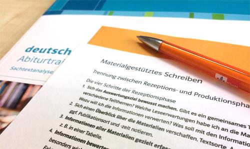 Materialgestütztes Schreiben Materialauswahl Deutschklett