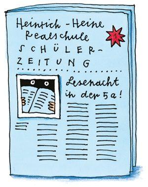 Zeichnung einer Schülerzeitung