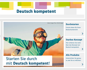 Screenshot Website Deutsch kompetent 2019