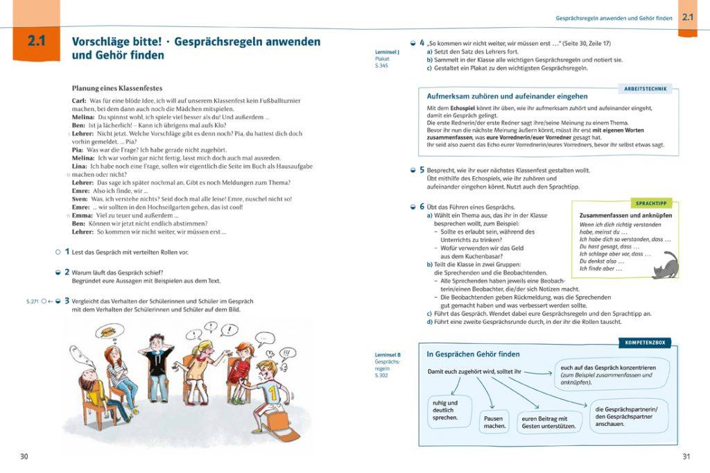 Beispielseite aus Deutsch kompetent zur Reflexion über Sprache