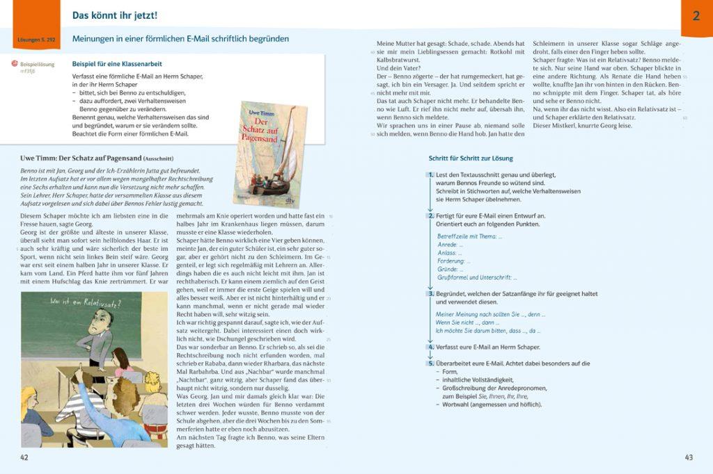 Beispielseite aus Deutsch kompetent mit komplexer Anwendungsaufgabe