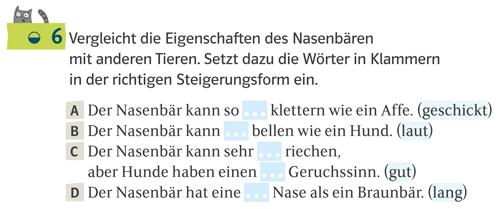 Aufgabenbeispiel aus Deutsch kompetent für eine Sprachaufgabe